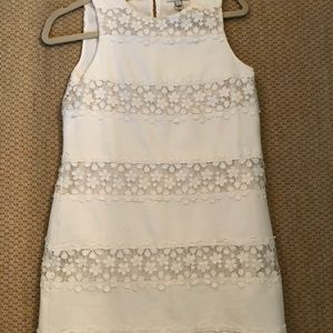 J.Crew white embroidered dress size 0
